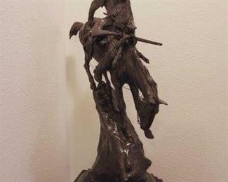 "900 ""Mountain Man"" Frederic Remington Bronze With Podium Measures Approx 30""x23""x10"""