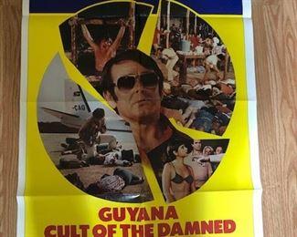 20. Guyana original poster/cult classic  far below wholesale cost...