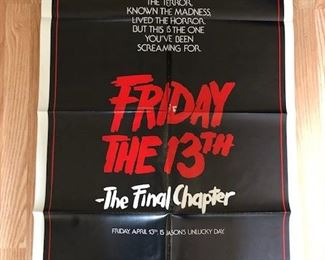 20.  original Friday The 13th; all original /vintage highly collectible posters