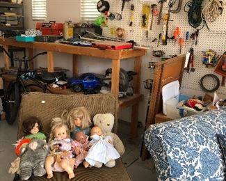 tools and dolls! (Bike sold)