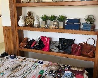 loads of costume jewelry - handbags - scarfs- wallets