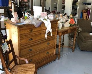 Pine chest - loads of dolls, gorgeous furniture form the 1900's English