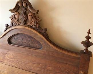 Victorian Walnut Bed, Full / Standard Size