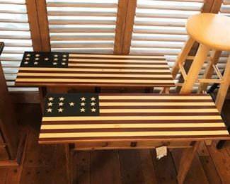 American Flag Benches