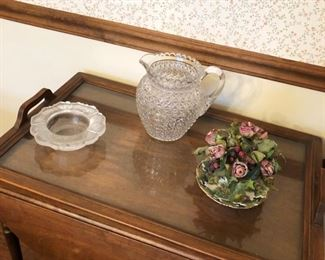 Vintage Tea Cart, with drawer, drop leaves, and butler's tray