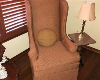 Wing Chairs - have two matching beside organ stool end table.
