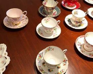 Vintage cups & saucers