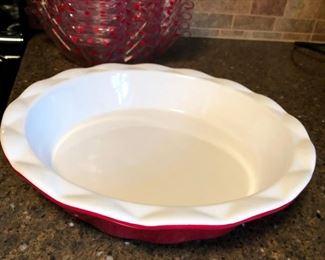 Stoneware Pie or Quiche Plate - top