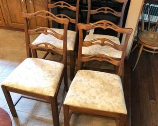 Set of 4 matching chairs.
