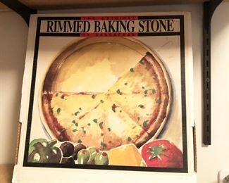 Rimmed Baking Stone
