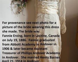 1914 Wedding Dress, Maryland, with provenance