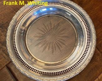 Vintage Sterling Silver & Glass dish by Frank M. Whiting