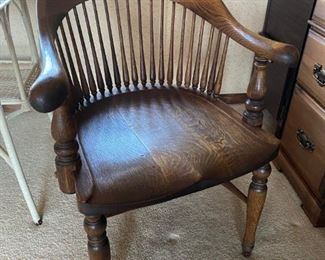 Antique Captain's Chair, Unusual Form