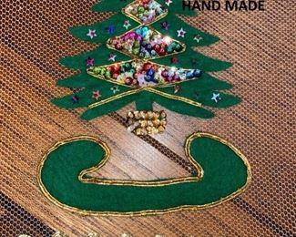 6' x 9' Christmas tablecloth, hand made