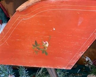 Antique Sleigh / Cutter, Child Size, c1890,ALL ORIGINAL with painted design
