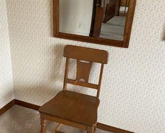 Antique Mirror, Vintage Chair