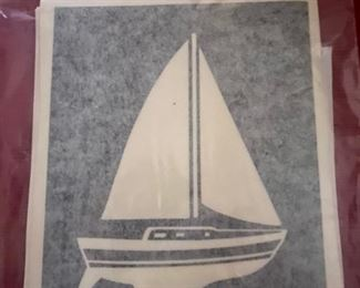 Sailboat Decals, 20 in 2 different sizes