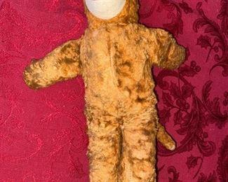 Monkey, Vintage Stuffed Toy with Felt Face