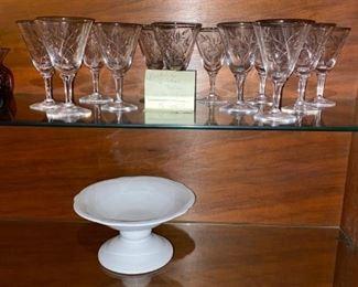 "Fostoria Glass ""Bridal Bell"" Stems, Vintage"