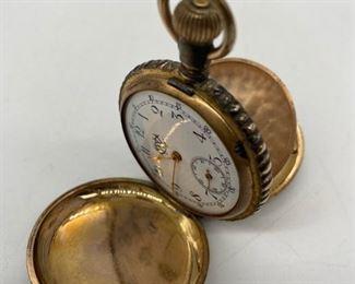 Antique Pocket Watch, Dated 1898, Ladies Hunt Case, missing crystal