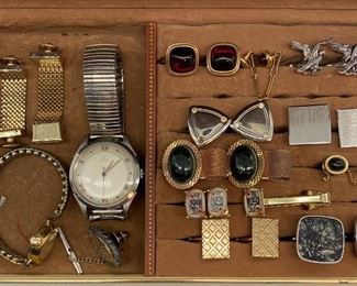 """Cuff links and watches including """"3 Kings Playing Cards"""""""
