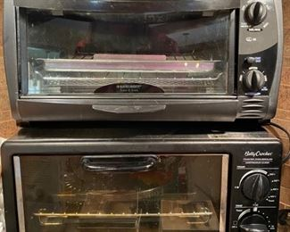 Two Toaster Ovens:   Black and Decker, Betty Crocker