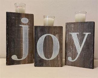 JOY Holiday Candles
