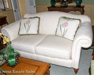 Beautiful White Settee - FOR SALE NOW