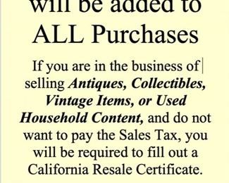 SALES TAX Added