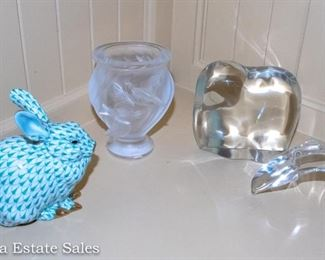 Baccarat - Herend - Lalique