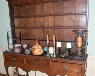 Antique - mid 1800s Sideboard / China Hutch