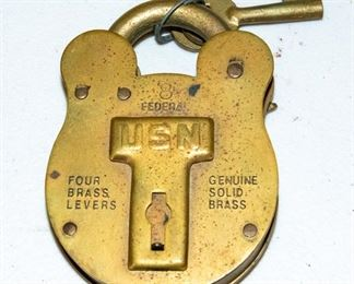 US NAVY Brass Lock