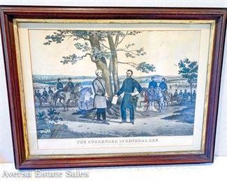 Civil War Hand color etching