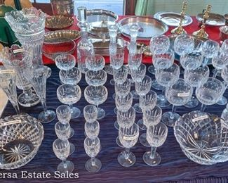 TABLE full of WATERFORD