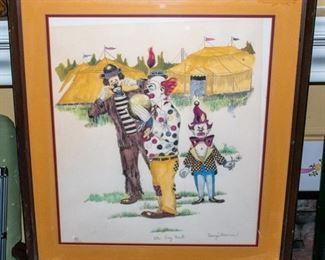 Clown Lithographs