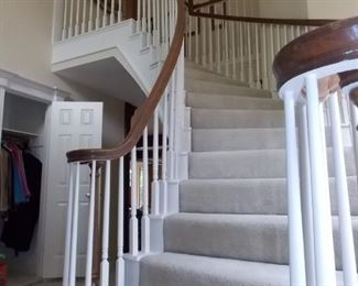 With this CURVED STAIRCASE... UP ONLY!