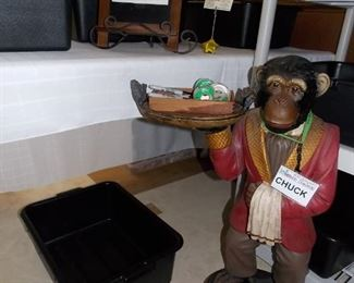 Our NEW EMPLOYEE... Say HI to CHUCK the CHIMP!