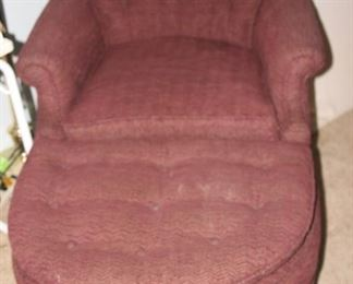Bedroom chair and foot stool.