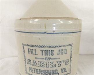 2G. RAHILY'S PETERSBURG VA WHISKEY JUG