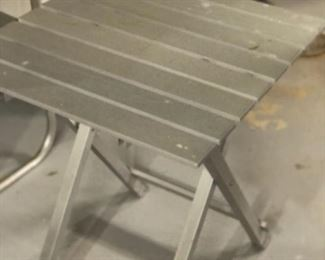 Small aluminum fold-up patio table