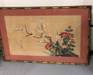 Asian influenced Framed piece