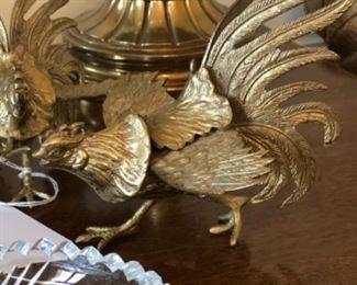 Brass chicken figure