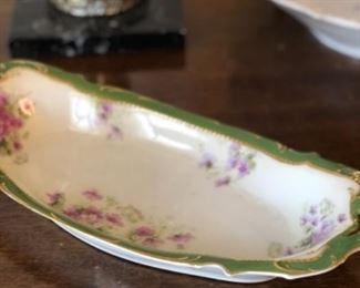 Hand painted china server