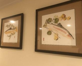 Fish prints original art