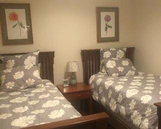 4 walnut twin beds and queen handmade