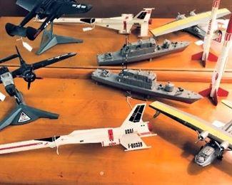 Aircraft and Nautical Models