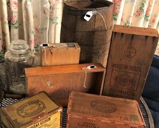 Advertising Crates, Boxes and Jars