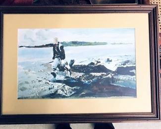 Andrew Wyeth The Coot Hunter Framed Print