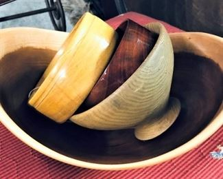 Black Cherry Wooden Bowl and Other Wooden Bowls