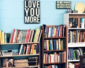 Books, Wooden Signs, Etc.